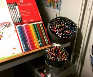 artist, markers, and office image