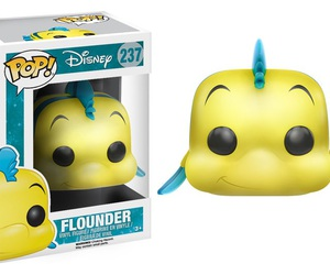 the little mermaid, flounder, and funko image