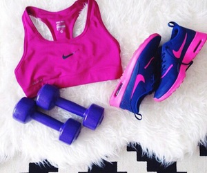fitness, girl, and pink image