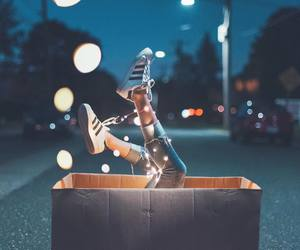 adidas, lights, and sneakers image