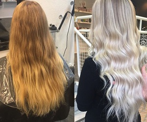 blonde, long, and makeover image