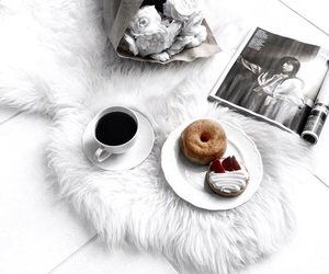 coffee, latte, and donut image