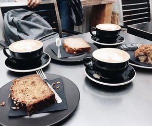 bread, coffee, and cafe image