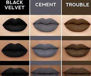 lipstick, beauty, and black image