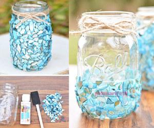 kavanoz süsleme, kavanozla neler yapılır?, and dekoratif vazo yapımı image
