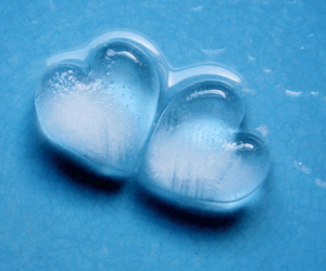 ice, heart, and hearts image