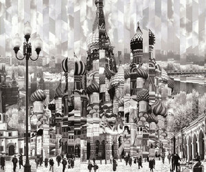 black and white, moscow, and photography image