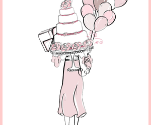 birthday, cake, and fashion illustration image