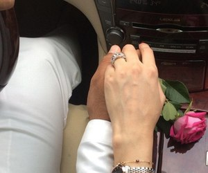 car, couple, and rose image