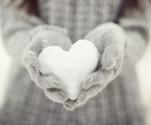 heart, winter, and gloves image