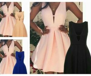 black dress, blue dress, and girl image