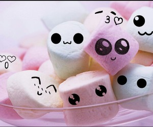 cute, sweet, and marshmallow image