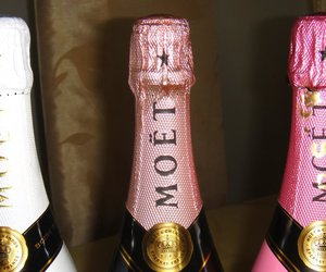 champagne, moet, and drink image