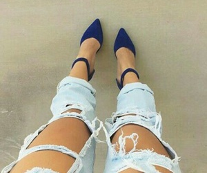blue, heels, and high image