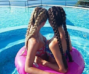 summer, friends, and hair image