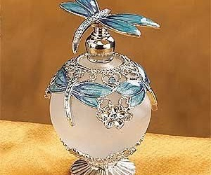 bottle, dragonfly, and perfume image