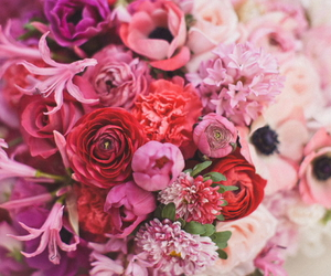 bouquet, flowers, and green image