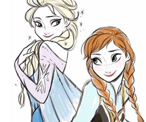 frozen, disney, and sisters image