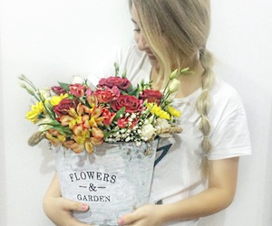 arrangement, beautiful, and flowers image
