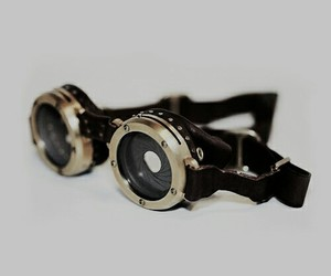 glass, steam punk, and goggle image