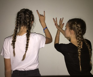 braids, friendship, and fashion image