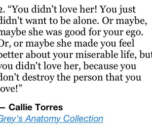 greys anatomy, callie torres, and greys anatomy quotes image