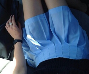blue, skirt, and grunge image