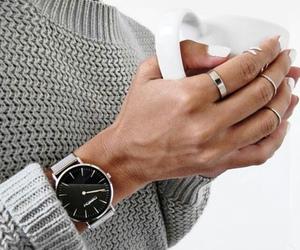 fashion, watch, and coffee image