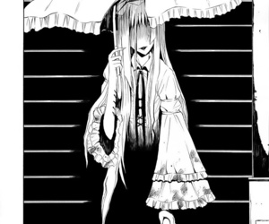 girl, terror, and manga image