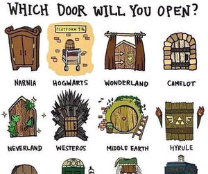 books, hogwarts, and door image