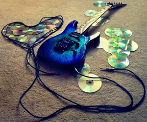 guitar, music, and cd image
