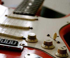 guitar and red image