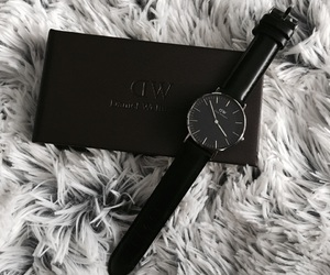 fashion, watch, and classic black image