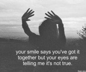 quote, smile, and eyes image