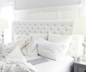 white, bedroom, and home image