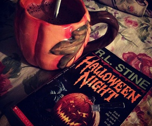 Halloween, autumn, and book image