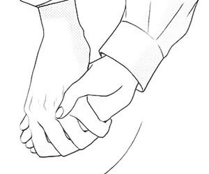 black and white, drawing, and manga image