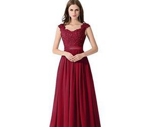 evening dress and fashion image