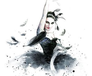 art, black, and black swan image