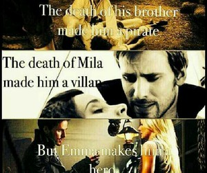 once upon a time, captain hook, and killian jones image