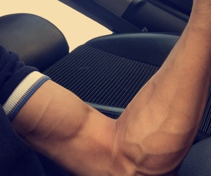 gain, biceps, and muscles image