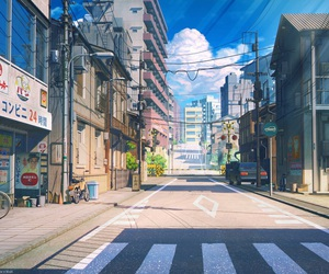 japan, street, and anime image