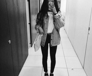 black and white, outfit, and girl image