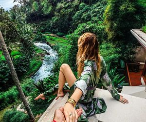 travel, couple, and green image