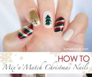 christmas, nails, and diy image
