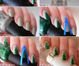 nails, christmas, and diy image