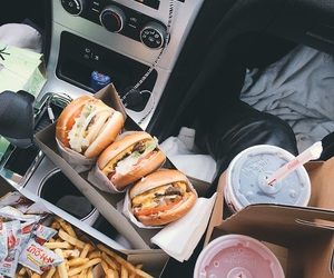food, car, and delicious image