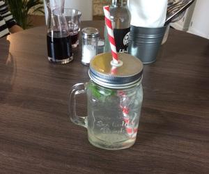 drink, mint, and lemon image