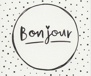 bonjour and quotes image