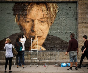 david bowie, grunge, and street image